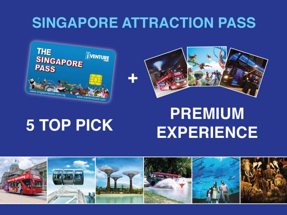 Singapore Attraction Pass (5 Top Picks + 1 Premium Experience)