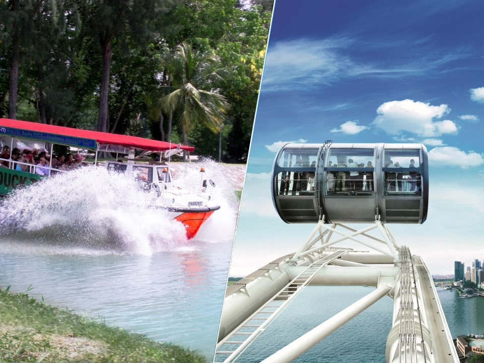 DUCKtours + Singapore Flyer