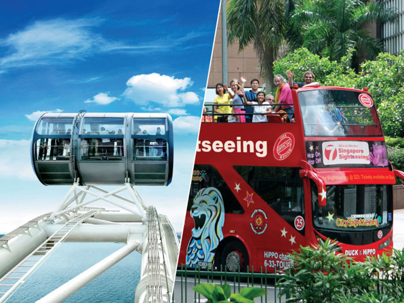 Singapore7 Hop-On Hop-Off Tour (7 Lines) + Singapore Flyer